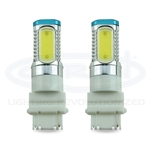 Lightbulb Automotive Wedge, Pair, Dual contact Stop/Brake 3157 12VDC 8W