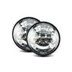 "Passing lamp Harley, Integrated 4.5"" 30W Chrome, 6000K, Pair ABIG4.5-A6K"