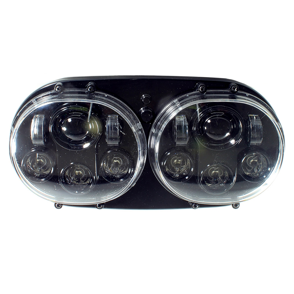 """Cyron ABIG5D-A6K 5"""" Dual Integrated LED Headlight, Blk For HD Road Glide '98-'13"""