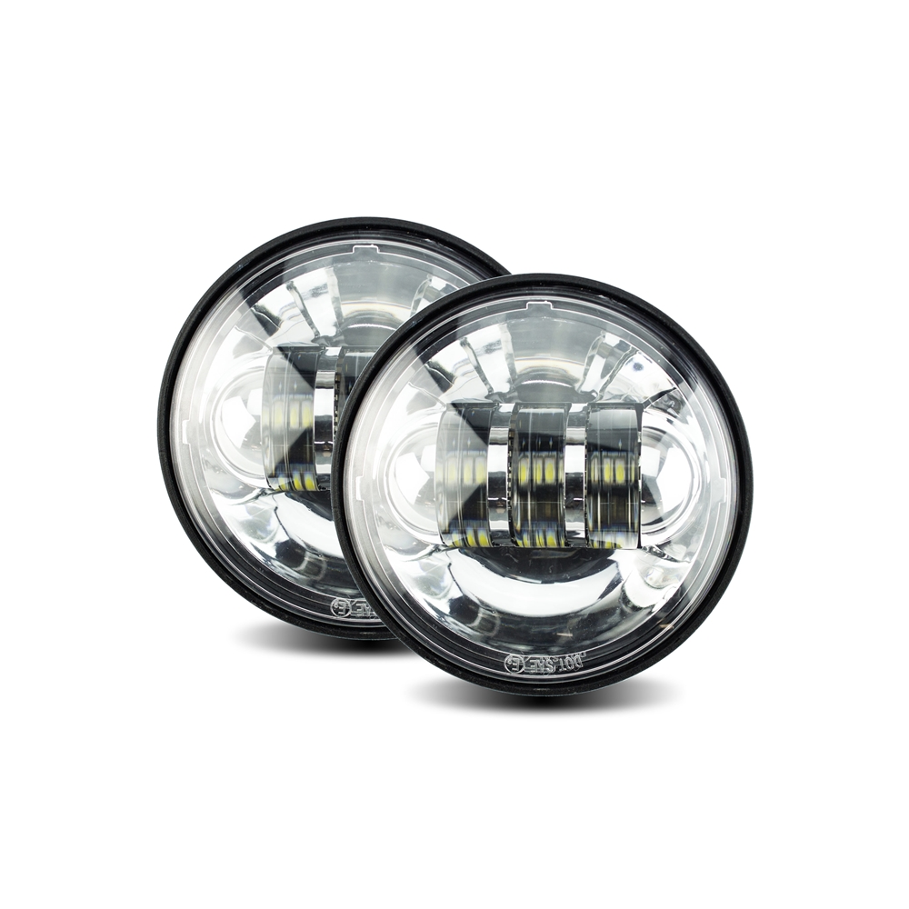 Cyron ABIG4.5-A6KC LED Passing Lamp Integrated, Chrome Pair for HD Models